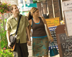 Young couple shopping in Westboro Village, Ottawa